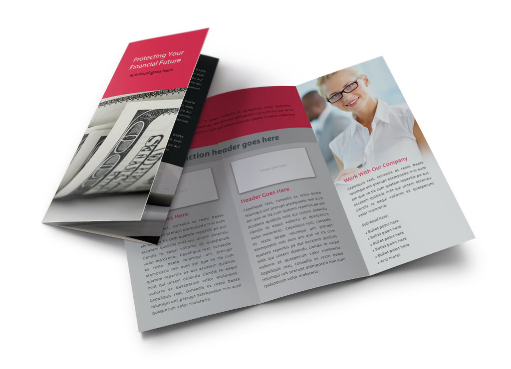 Financial Services TriFold Brochure Microsoft Word File DIY – Tri Fold Brochure Microsoft Word