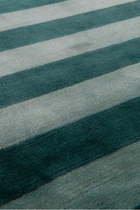Mohair Stripe Jade by The Rug Company