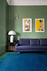 Mohair Border Emerald by The Rug Company