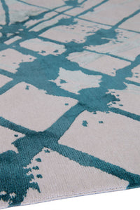 Tempo Teal by The Rug Company