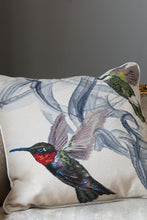 Load image into Gallery viewer, Hummingbird Ivory Cushion by Alexander McQueen