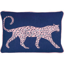 Load image into Gallery viewer, Leopard Cobalt Cushion by Luke Edward Hall