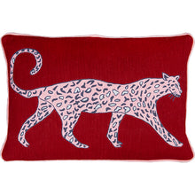Load image into Gallery viewer, Leopard Ruby Cushion by Luke Edward Hall