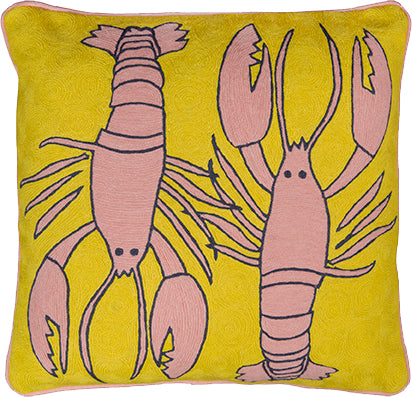 Lobster Mustard Cushion