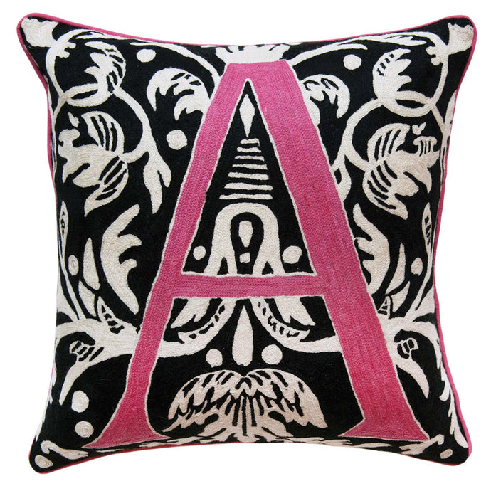 Alphabet A Cushion by Sue Timney