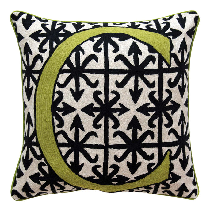 Alphabet C Cushion by Sue Timney