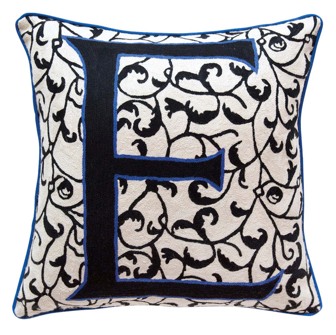 Alphabet E Cushion by Sue Timney