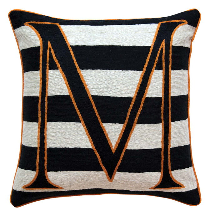 Alphabet M Cushion by Sue Timney