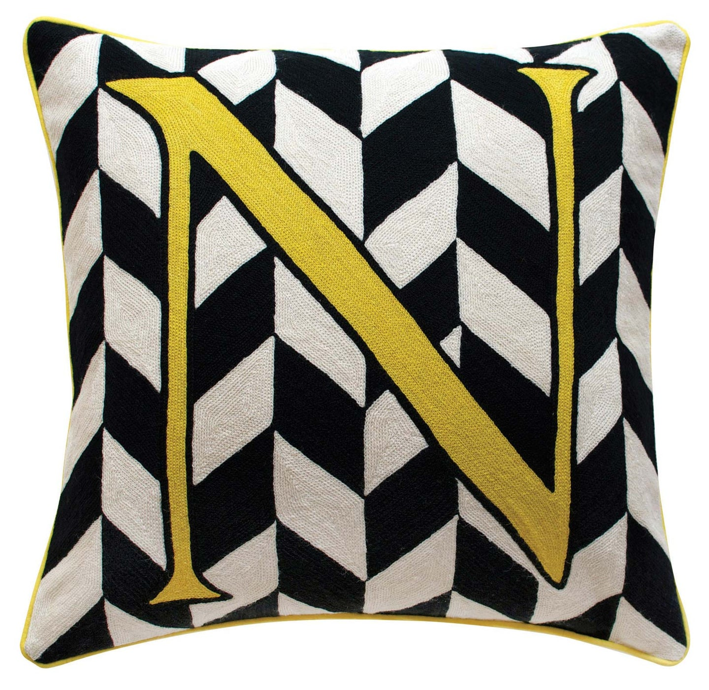 Alphabet N Cushion by Sue Timney
