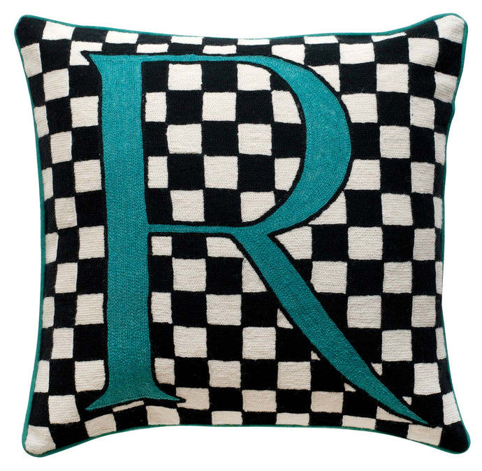 Alphabet R Cushion by Sue Timney