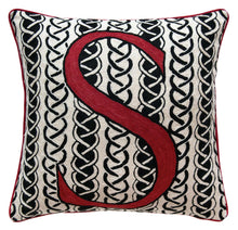 Load image into Gallery viewer, Alphabet S Cushion by Sue Timney