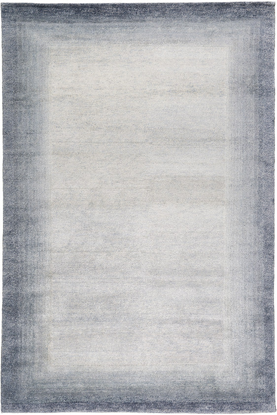 Bamboo Border Blue by The Rug Company