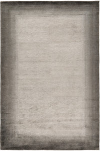 Bamboo Border Charcoal by The Rug Company