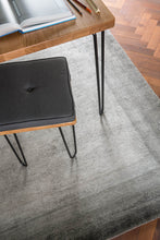 Load image into Gallery viewer, Bamboo Border Charcoal by The Rug Company