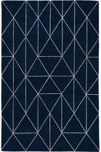 Load image into Gallery viewer, Diamond Maze Blue by The Rug Company