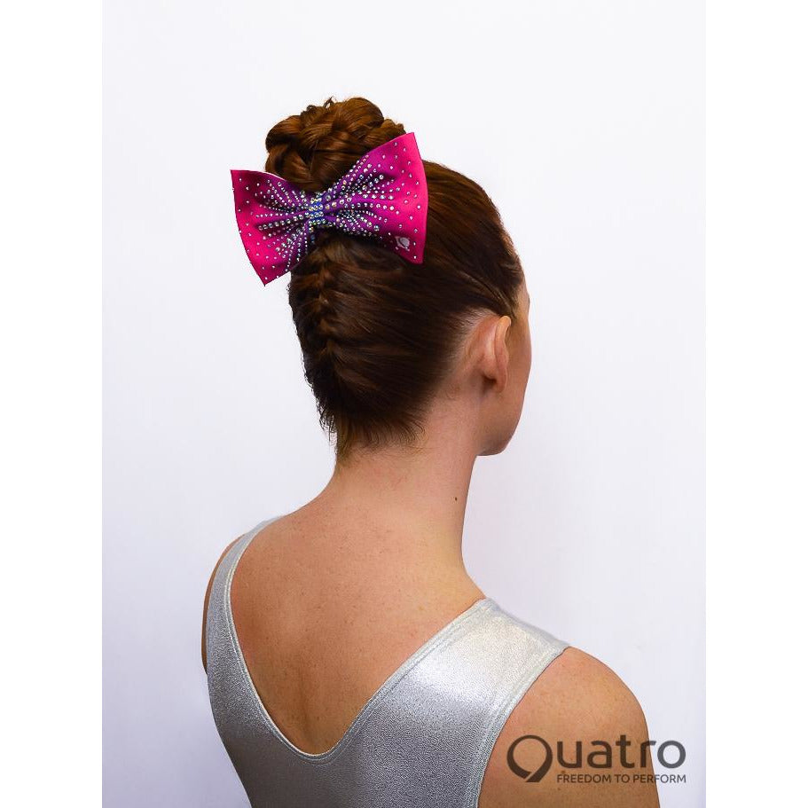 Pink to Purple Ombre Rhinestone Bow