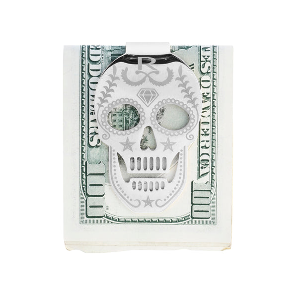 Rayal  Stainless Steel Skull Money Clip