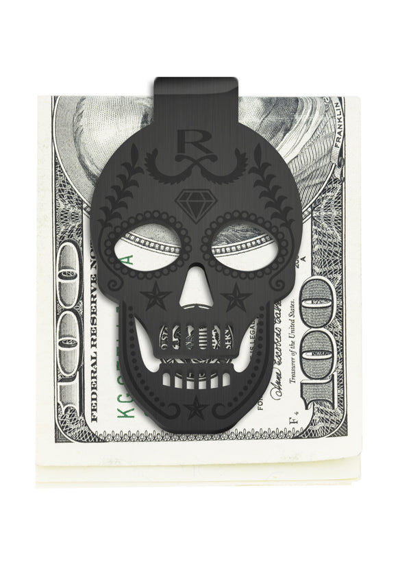 BLACK EDITION - Rayal Stainless Steel Skull Money Clip