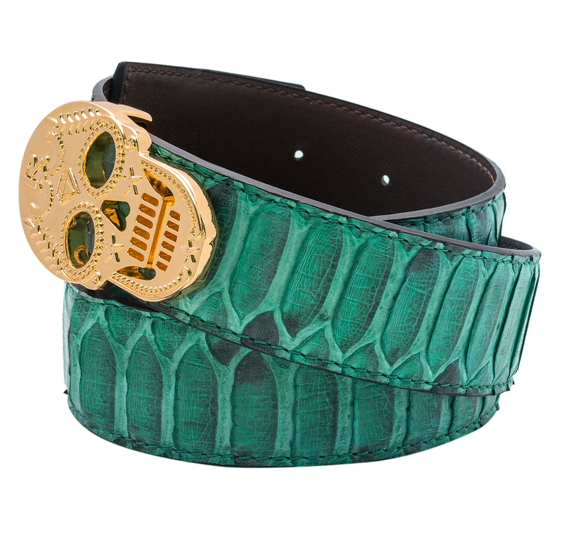 Rayal Green Python Belt