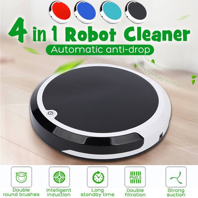 4 in 1 Rechargeable Auto Cleaning Robot Vacuum - Abrahama
