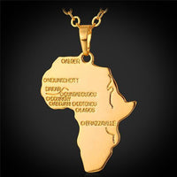 African Continent Map Necklace - Abrahama.com