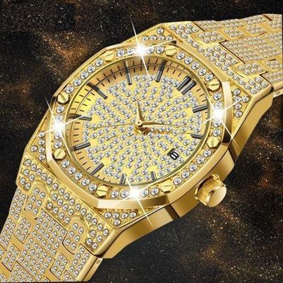 Business Men 18K Gold And Diamond Watch - Abrahama.com
