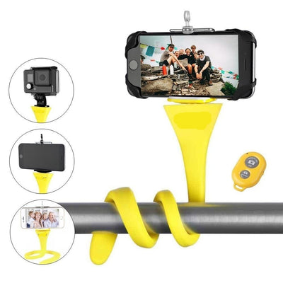 Flexible Selfie Stick wireless Bluetooth Tripod - Abrahama