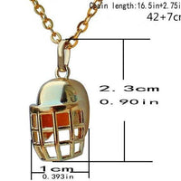 Football Sports Ball Rugby Helmet Hockey Caps Necklace - Abrahama.com