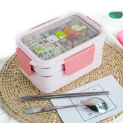 Kids School Lunch Box Stainless Steel Double Layer - Abrahama.com