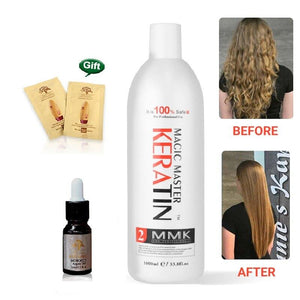 Magic Master Keratin Treatment Without Formalin Straighten Frizzy Smoothing Shine Hair -