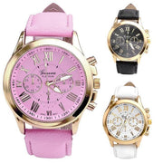 New Women's Fashion Leather Analog Quartz Wrist Watch watches For Men And Woman -