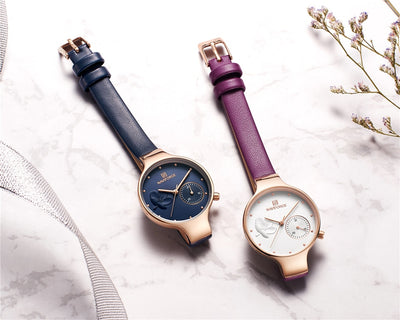Japanese Quartz Watch Leather Watchband High Quality Casual Waterproof 2020 Women Model - gold.archi