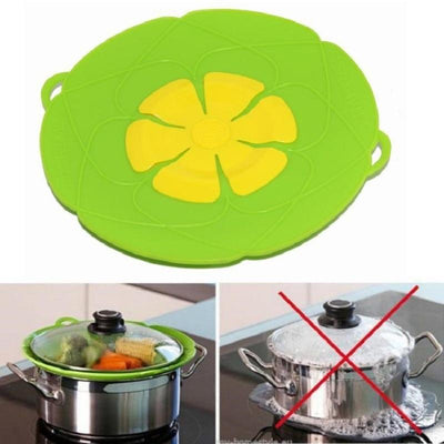 Silicone lid Spill Stopper Cover For Pot Pan - Abrahama