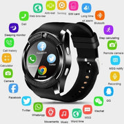 Smart Watch Bluetooth Touch Screen Android Waterproof With Sim Card & Camera - Abrahama