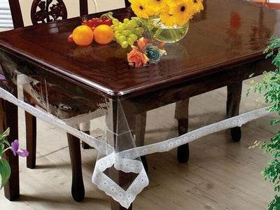 Soft Glass Round transparent PVC Plastic Table Cloth Waterproof Cover - Abrahama