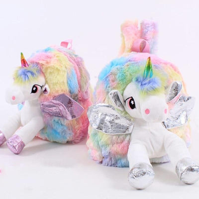Unicorn Fur Backpack School Bag - Abrahama