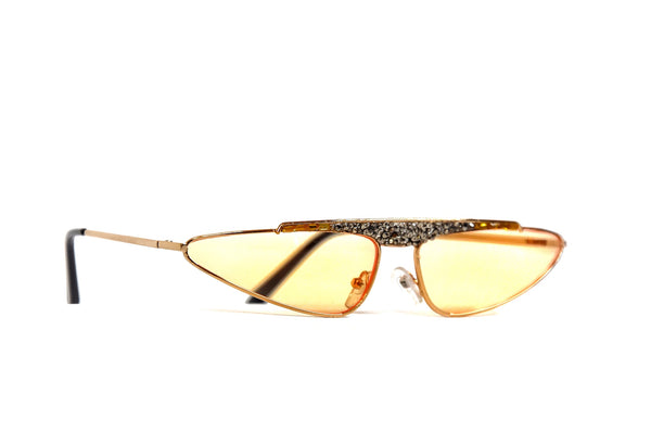 Cat eye YELLOW crystal sunglasses