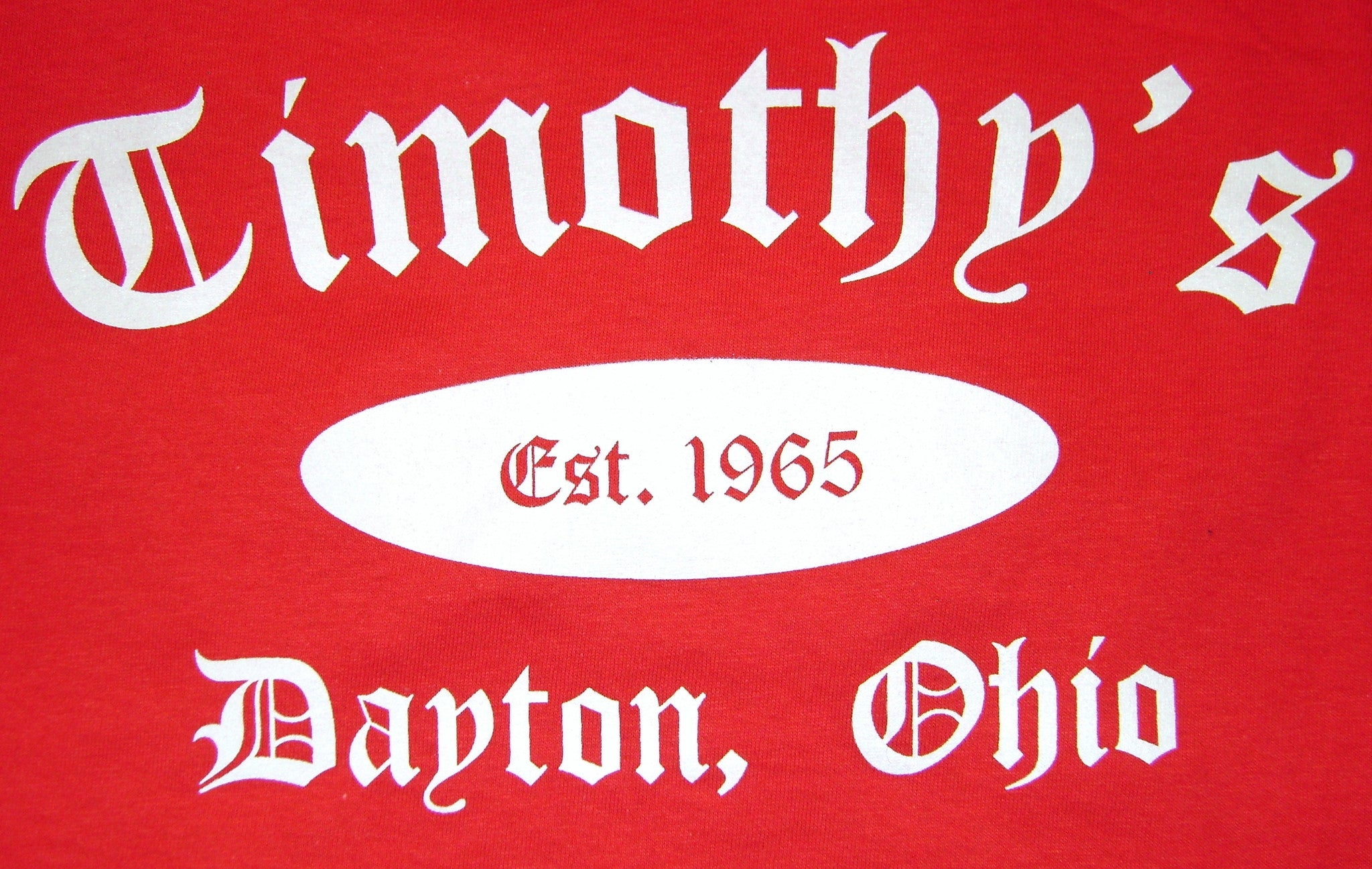 Timothy's Red/White Classic T-Shirt