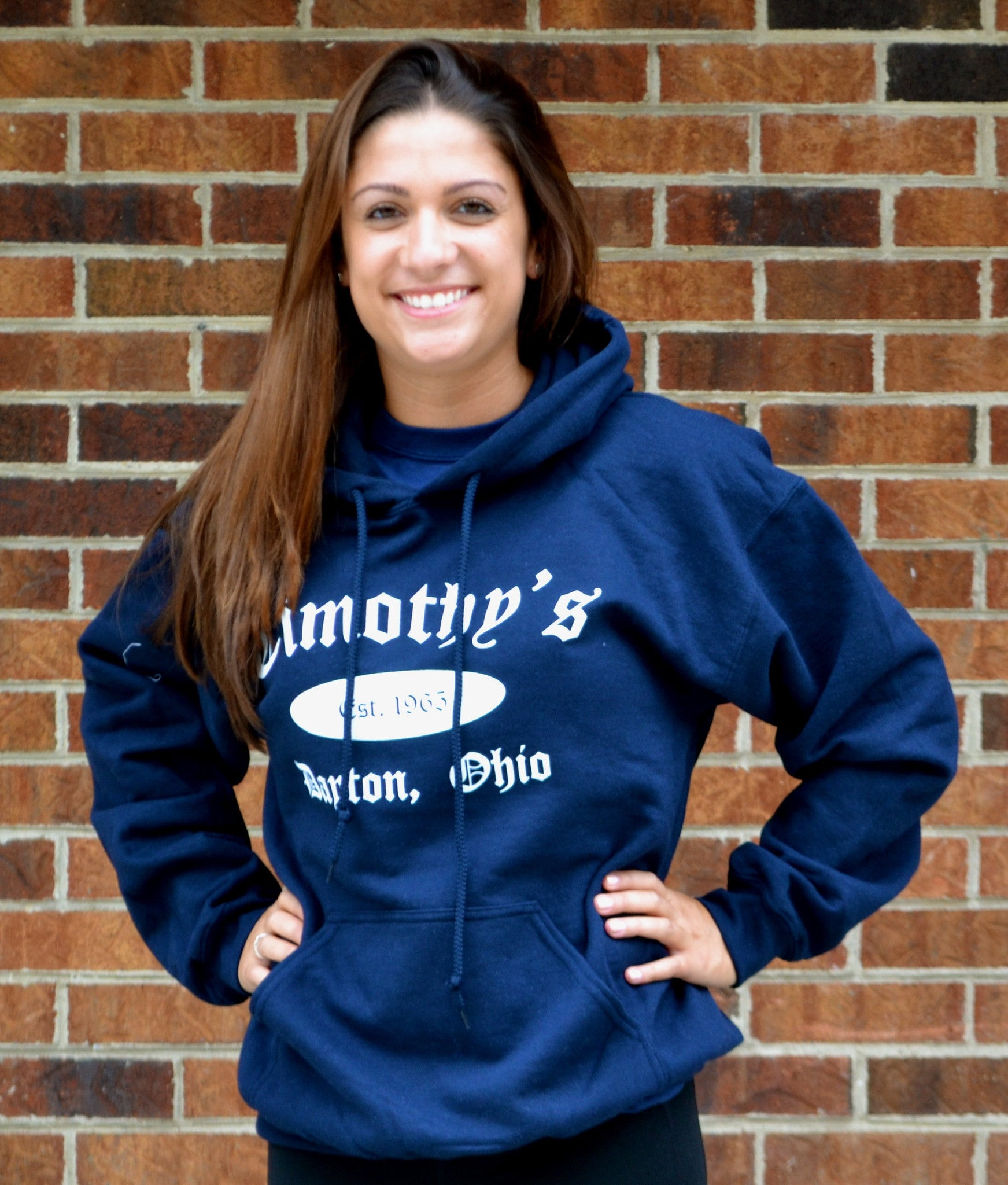 Timothy's Navy/White Classic Hoodie