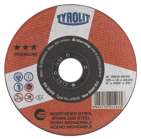 Tyrolit Thin Cut-Off Wheels / Type-1 (Flat)