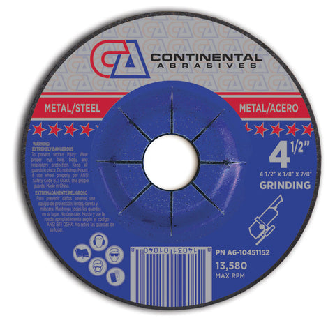 Continental Depressed Center Grinding Wheels