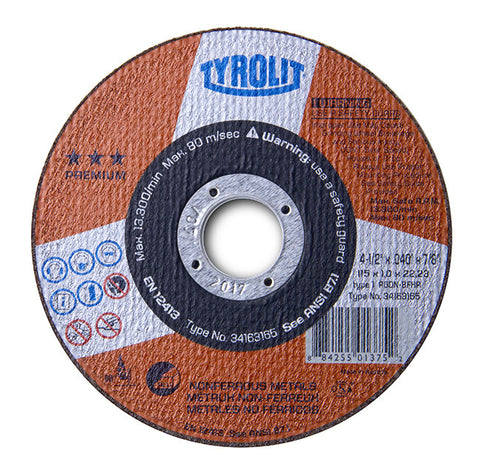Tyrolit Thin Cut-Off Wheels for Aluminum