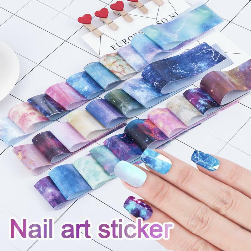 1 Second Nail Art Sticker, 10pcs/set