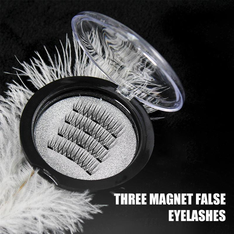 3D Magnetic Eyelashes without Glue