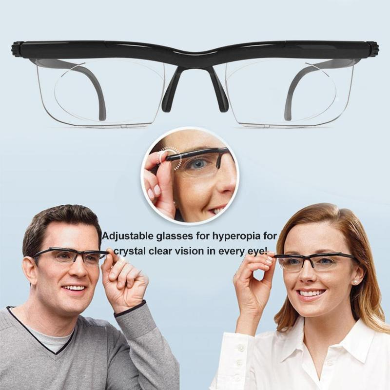 Focus Adjustable Glasses Reading Glasses Unisex