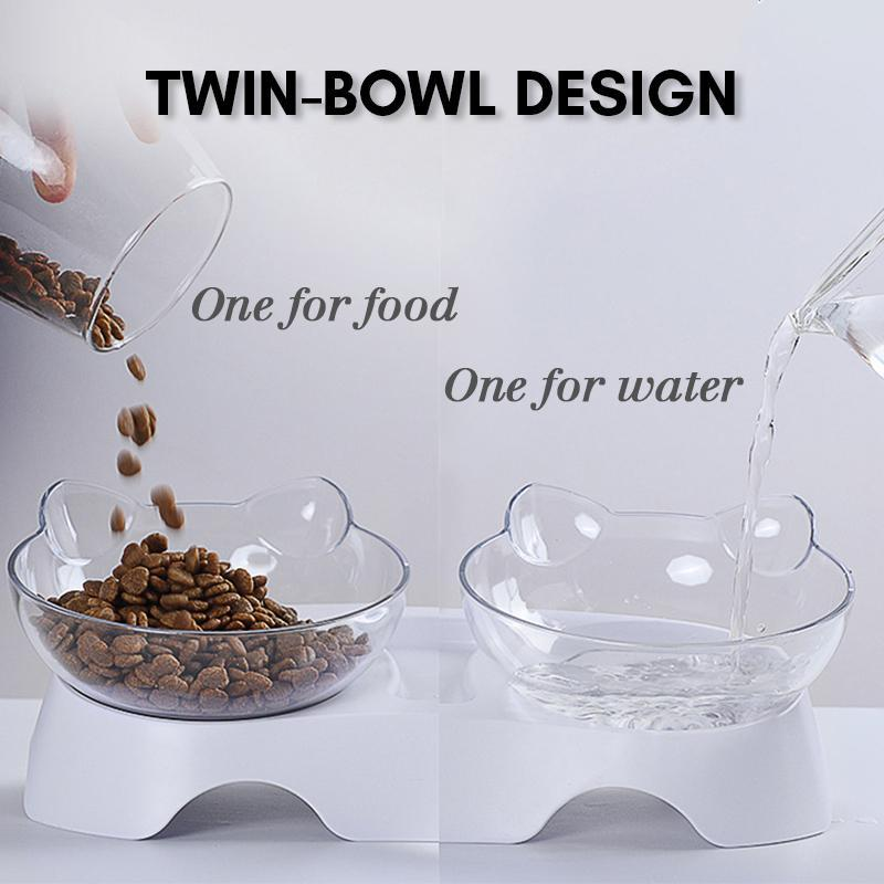 Lovely Cat Feeding Bowl (Single/Double)