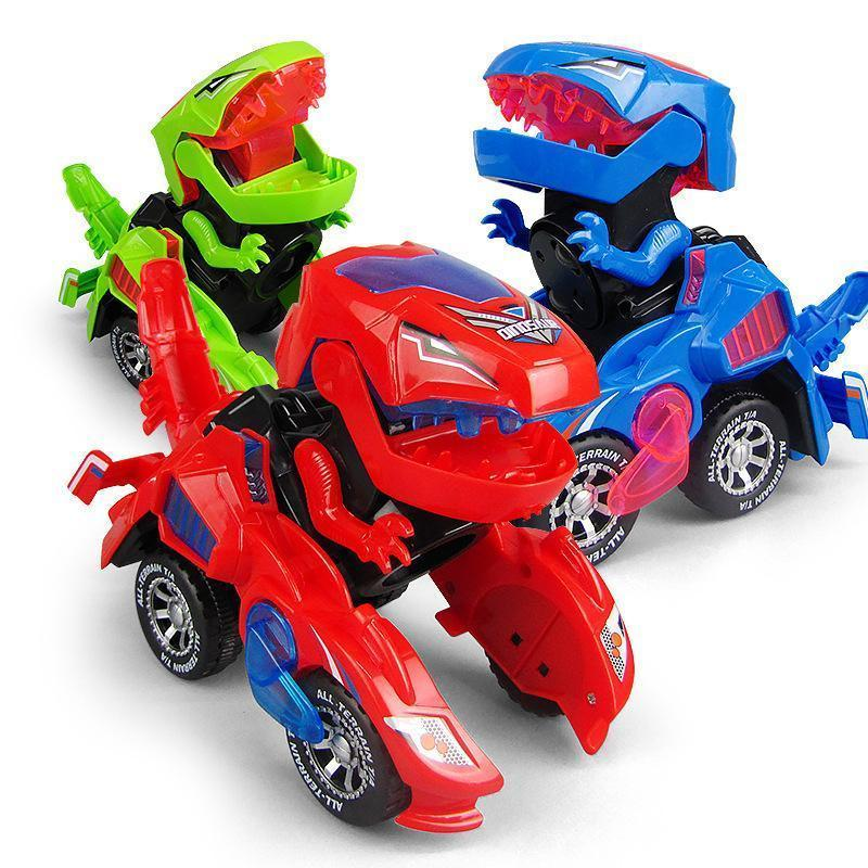 Transforming Dinosaur LED Car (Random color)