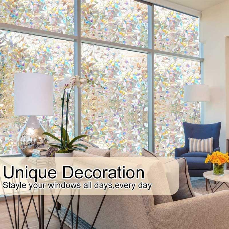 3D Rainbow Window Film -- PVC refraction & No glue