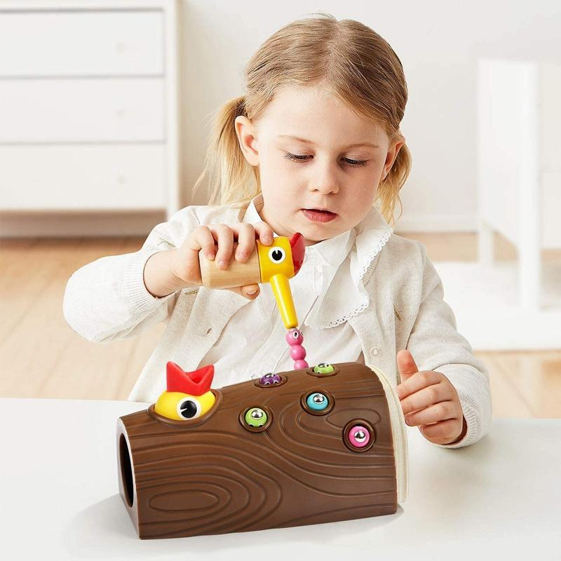 Woodpecker Insect Catching Game Toys For Kids