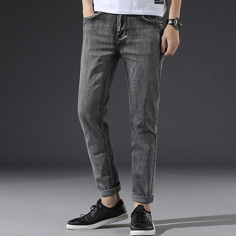 Men's micro-elastic breathable ultra-light jeans